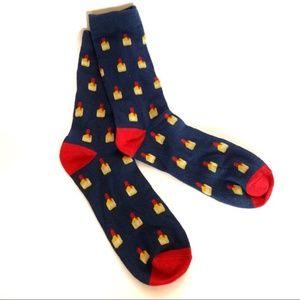 NWOT Makers Mark Bourbon Themed Tall Socks